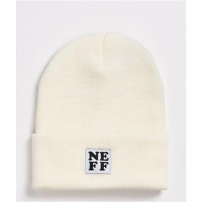 ネフ NEFF レディース ニット ビーニー 帽子 Neff Lawrence White Fold Beanie White
