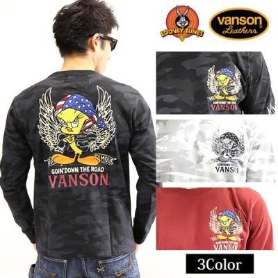 コラボ長袖Tシャツ VANSON×LOONEY TUNES バンソン Tweety ltv-923[19_aw]