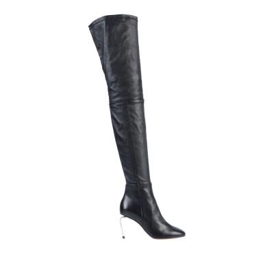 CLERGERIE ブーツ ブラック 37 紡績繊維 ブーツ