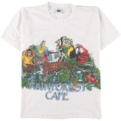 RAINFOREST CAFE アニマルプリントTシャツ メンズM /eaa151585