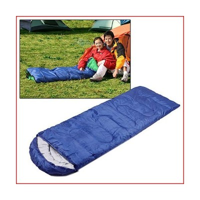 nobrand Mat BagCamping Warm Rectangle Sleeping Bag(Army Green) (Color : Blue)【並行輸入品】