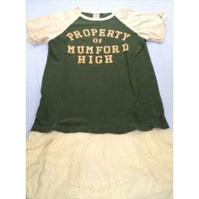 デニム&ダンガリー DENIM&DUNGAREE マキシワンピース 半袖 160cm 白/緑系 オールインワン 女の子 ジュニア 子供服 通販 買い取り