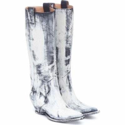メゾン マルジェラ Maison Margiela レディース ブーツ カウボーイブーツ シューズ・靴 Painted Knee-High Cowboy Boots