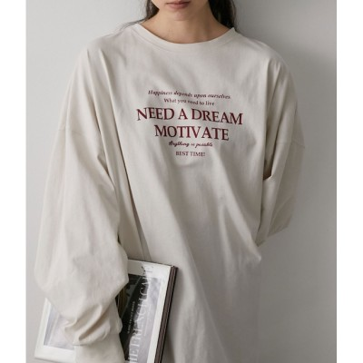 【ビス/ViS】 【WEB限定】フロントロゴロングTシャツ