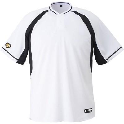 デサント(DESCENTE) JDB103B SWBK 野球 Tシャツ ジュニア 2ボタンベースボールシャツ 19FW