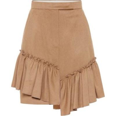 マックスマーラ Max Mara レディース スカート pulcino ruffle-trimmed camel hair skirt Cammello