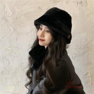 バケットハット ボアハット 帽子 つば広帽子 レディース 折り畳み 秋 トレンド フかわいい 冬 無地 ボア レオパード もこもこ