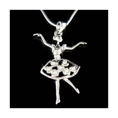 ネックレス インポート スワロフスキ クリスタル ジュエリー BALLERINA Heart  made with Swarovski Crystal Ballet Dance Girls Teacher Necklace
