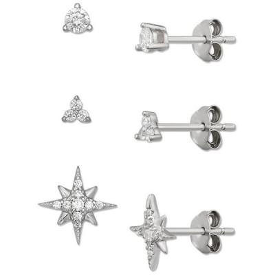 ジャーニ ベルニーニ レディース ピアス・イヤリング アクセサリー 3-Pc. Set Cubic Zirconia Stud Earrings in Sterling Silver