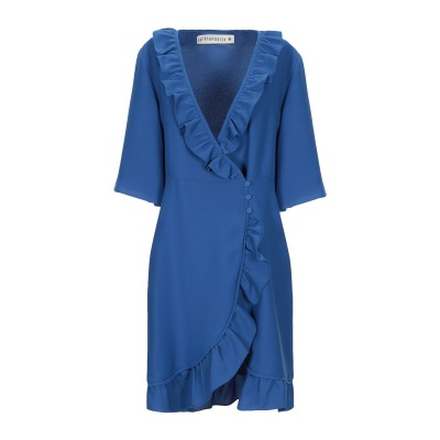 SHIRTAPORTER ミニワンピース&ドレス ブルー 38 ポリエステル 100% ミニワンピース&ドレス