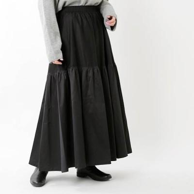HAVERSACK ハバーサック コットンモールスキンサテンロングスカート362001  2020aw新作