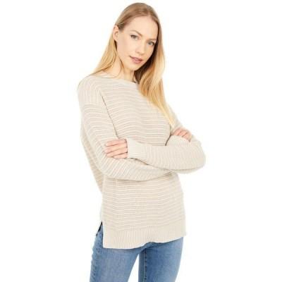 マイケルスターズ レディース ニット・セーター アウター Maggie Crew Neck Tonal Stripe Cotton Sweater