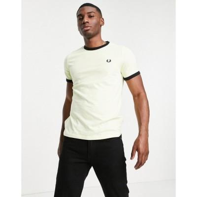 フレッドペリー Fred Perry メンズ Tシャツ トップス ringer t-shirt in yellow イエロー