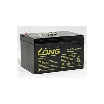 LONG 12V 14Ah 高性能シールドバッテリー 高サイクルタイプ WP14-12SE 電動バイク 電動リール 互換バッテリー