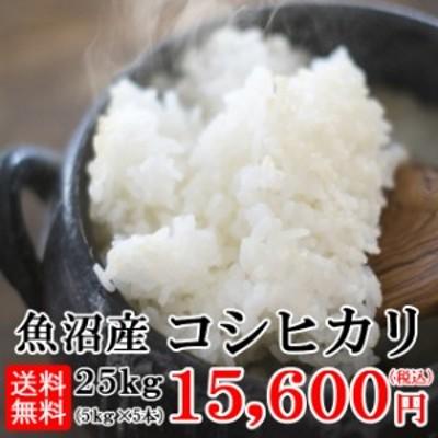 令和2年産  送料無料 魚沼産コシヒカリ 5kg×5袋 北海道・九州・沖縄へは追加送料がかかります。