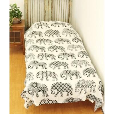 ベッド 寝具 【チャイハネ】ジャイプールベッドカバー シングルサイズ