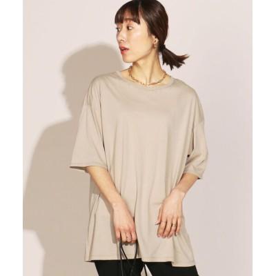 NOLLEY'S / アルビニスタ天竺ビッグTシャツ WOMEN トップス > Tシャツ/カットソー