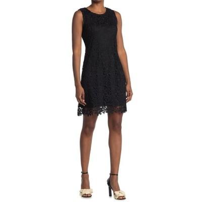 ベベ レディース ワンピース トップス Chemical Lace Sheath Dress BLK