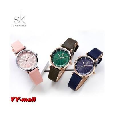 腕時計 レディース SK プリズムクォーツドレスウォッチ 女性腕時計 プレゼント クリスマス ホワイトデー ギフト