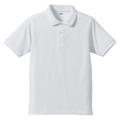 UnitedAthle(ユナイテッドアスレ) 5.3オンスドライ CVC ポロシャツ(大きいサイズ) ホワイト