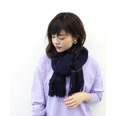 DRESSLAVE / wool check stole(ウールチェックストール) WOMEN ファッション雑貨 > ストール/スヌード