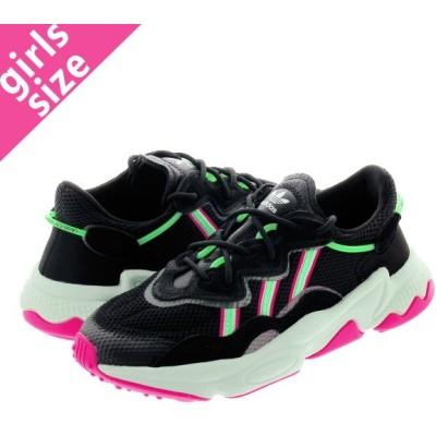 adidas OZWEEGO W アディダス オズウィーゴ ウィメンズ CORE BLACK/SHOCK LIME/SHOCK PINK ee5714