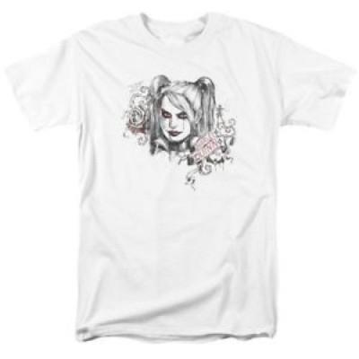 【お取り寄せ】ハーレーダビットソン メンズ DC Comics - Harley Quinn Sketchy Girl Adult Regular Fit T-Shirt
