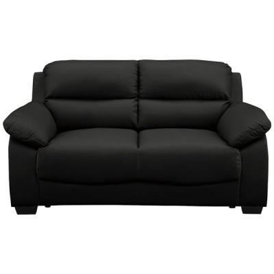 送料無料  ブラック 2Pソファ 2人掛けソファ COW/PVC 幅153 オシャレ シンプル