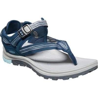 キーン KEEN レディース サンダル・ミュール シューズ・靴 terradora ii toe post sandal Navy/Light Blue