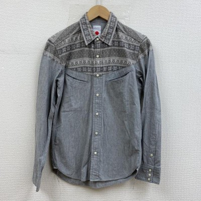 marka マーカ 長袖 シャツ、ブラウス Shirt, Blouse 長袖シャツ グレー スナップボタン 10001252