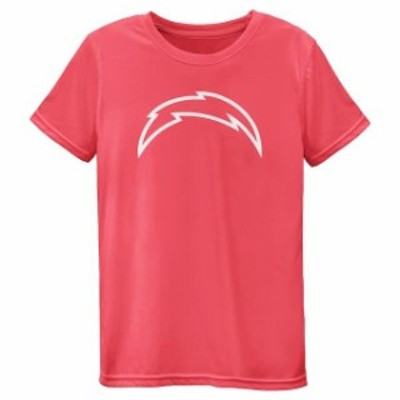Outerstuff アウタースタッフ スポーツ用品  Los Angeles Chargers Girls Youth Pink Neon Logo T-Shirt