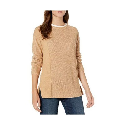 Chaus Women's Long Sleeve Pullover Sweater, Light French Truffle, Large並行輸入