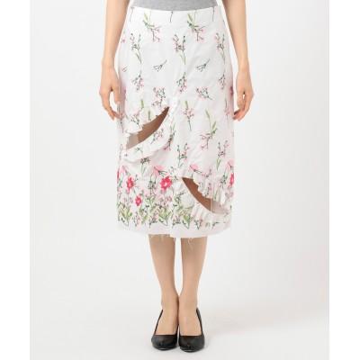 MARQUES ALMEIDA 花柄アシンメトリースカート