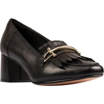 クラークス レディース サンダル シューズ Sheer55 Loafer Black Leather