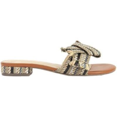 クレボ レディース サンダル シューズ Safron Striped Slide Sandals
