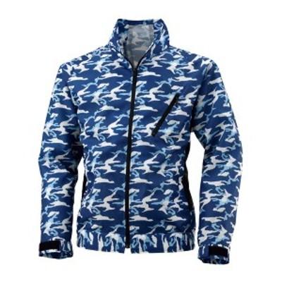 4930269053270 空調風神服 BK6157K 長袖ジャケット 色:カモフラブルー×ブラック サイズ:LL