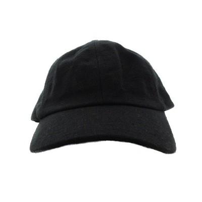 【中古】ローズバッド ROSE BUD 帽子 キャップ BBキャップ 野球帽 麻 リネン 無地 F 黒 ブラック /MM レディース 【ベクトル 古着】