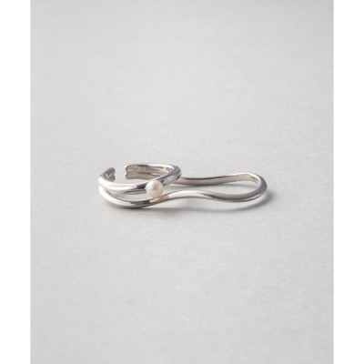 指輪 パール ダブルリングカフ