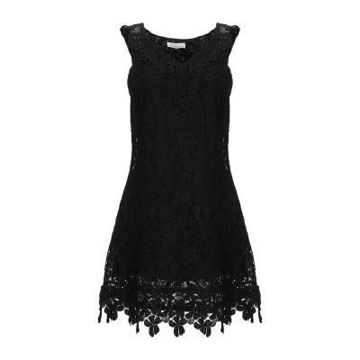 PAOLO CASALINI ミニワンピース&ドレス ブラック M コットン 90% / ナイロン 10% ミニワンピース&ドレス