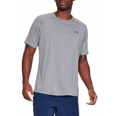 アンダーアーマー メンズ シャツ トップス UA Tech Men's Short Sleeve Shirt 036 Steel Light Heat