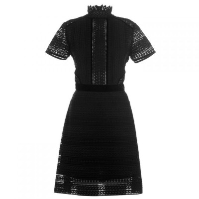 パーセヴェランス ロンドン Perseverance レディース ワンピース ミニ丈 ワンピース・ドレス cable lace mini dress Black
