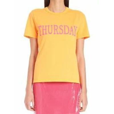 Alberta Ferretti レディースその他 Alberta Ferretti rainbow Week T-shirt Orange