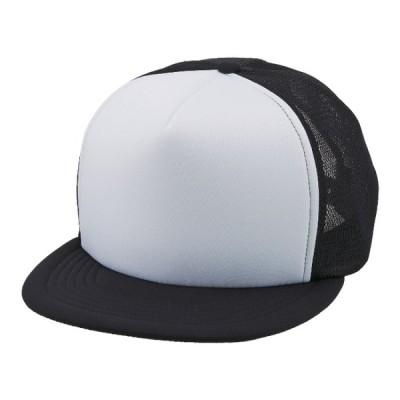 フラットバイザー メッシュ キャップ 帽子 CAP F サイズ ホワイト/ブラック 無地 ユナイテッドアスレ CAB