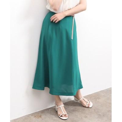 (ViS/ビス)セミフレアミモレ丈スカート/レディース グリーン(30)