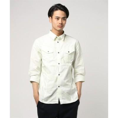 シャツ ブラウス セマンティックデザイン / semantic design オックス斑ラバープリント7分袖シャツアウター