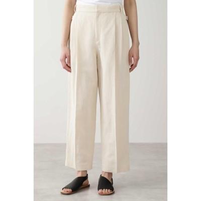 【ヒューマンウーマン】 ◆≪Japan couture≫綿麻ギャバパンツ レディース エクリュ1 M HUMAN WOMAN