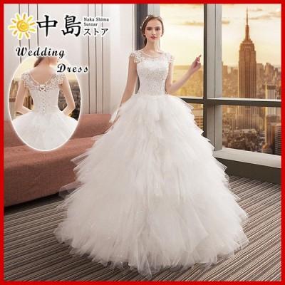 ウエディングドレス 結婚式ドレス プリンセスドレス 大きい 花嫁ドレス 披露宴 前撮りドレス パーティードレス 二次会 演奏会 大人ピアノ 上品 超豪華