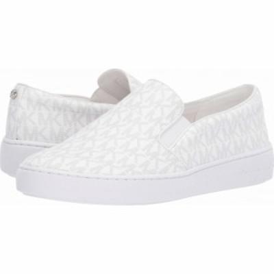 マイケル コース MICHAEL Michael Kors レディース スリッポン・フラット シューズ・靴 Keaton Slip-On Bright White Mini MK Logo Coate