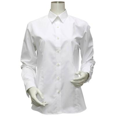 トーキョーシャツ TOKYO SHIRTS 形態安定ノーアイロン レギュラー衿 白無地ベーシック 長袖ビジネスワイシャツ (ホワイト)