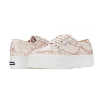 Superga スペルガ レディース 女性用 シューズ 靴 スニーカー 運動靴 2790 Synthsnake Sneaker - Pink Snake